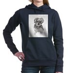 """Yorkshire Terrier"" by M Women's Hooded Sweatshirt"