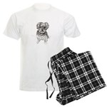 """Yorkshire Terrier"" by M. Nic Men's Light Pajamas"