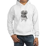 """Yorkshire Terrier"" by M. Nicole Hooded Sweatshirt"