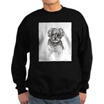 """Yorkshire Terrier"" by M. Nicole Sweatshirt (dark)"