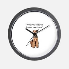 Airedale Terrier Dug up your tree Wall Clock