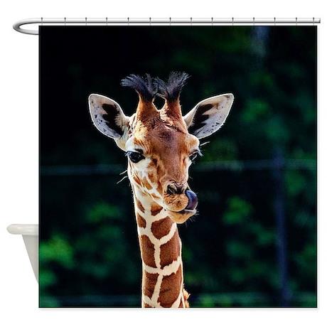 Beautiful Unique Giraffe Shower Curtain