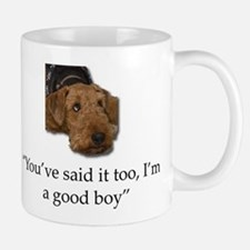 Sulking Airedale Terrier Giving Cute Eyes Mugs