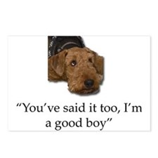 Sulking Airedale Terrier Postcards (Package of 8)