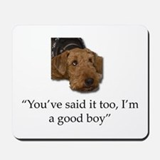 Sulking Airedale Terrier Giving Cute Eye Mousepad