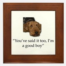 Sulking Airedale Terrier Giving Cute E Framed Tile