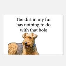 Airedale Sees no connecti Postcards (Package of 8)