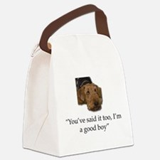 Sulking Airedale Terrier Giving C Canvas Lunch Bag