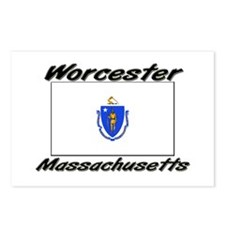 Worcester Massachusetts Postcards (Package of 8)