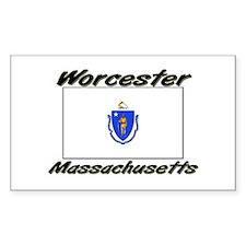 Worcester Massachusetts Rectangle Decal