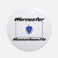 Worcester Massachusetts Ornament (Round)