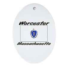 Worcester Massachusetts Oval Ornament