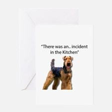 """Airedale Caused """"Incident"""" in Kitch Greeting Cards"""