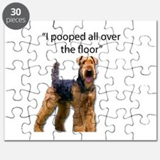 Airedale pooped all over the floor Puzzle