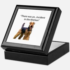 "Airedale Caused ""Incident"" in Kitchen Keepsake Box"