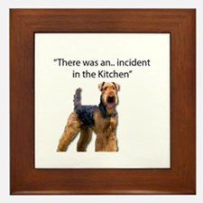 "Airedale Caused ""Incident"" in Kitchen Framed Tile"
