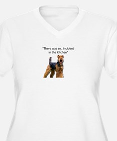 """Airedale Caused """"Incident"""" in Ki Plus Size T-Shirt"""