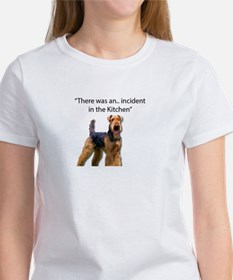 "Airedale Caused ""Incident"" in Kitchen T-Shirt"