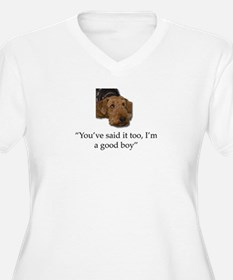 Sulking Airedale Terrier Giving Plus Size T-Shirt