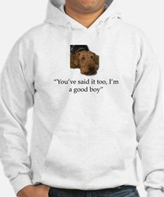 Sulking Airedale Terrier Giving Hoodie