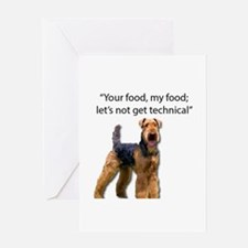 Your Food - My Food Airedale Greeting Cards