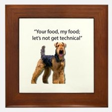 Your Food - My Food Airedale Framed Tile