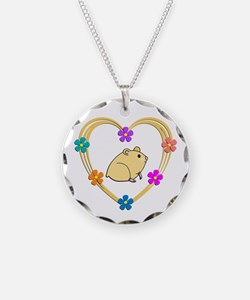 Hamster Heart Necklace