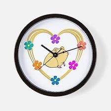Hamster Heart Wall Clock