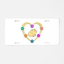 Hamster Heart Aluminum License Plate