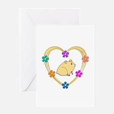 Hamster Heart Greeting Card
