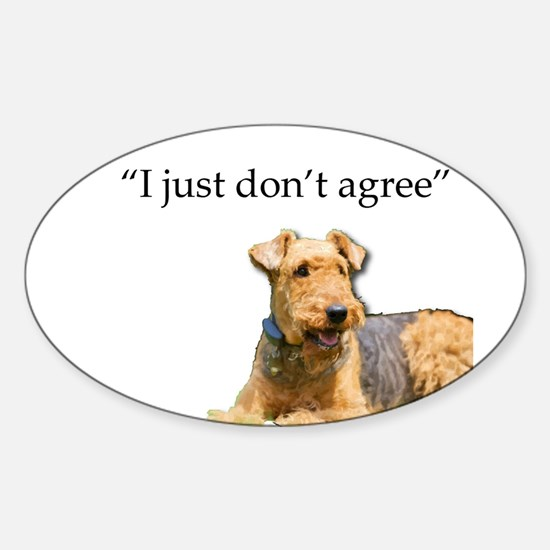 Outdoor Airedale Terrier Disagrees Decal