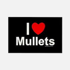 Mullets Rectangle Magnet