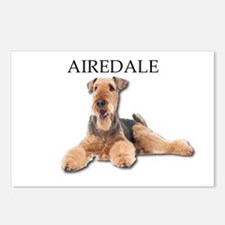Lazy Airedale Terrier Lay Postcards (Package of 8)