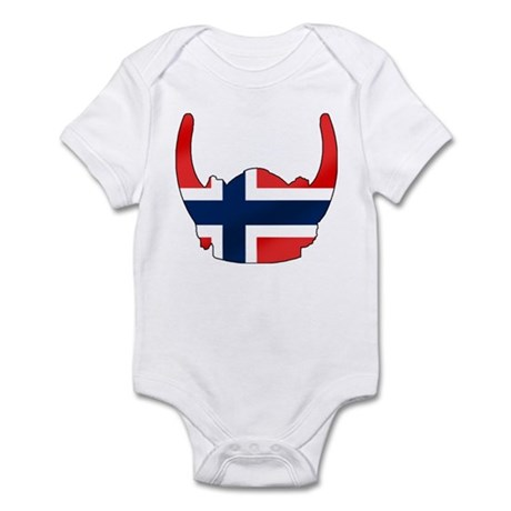 Norway Viking Helmet Infant Bodysuit