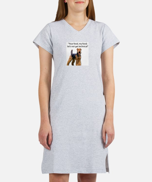 Your Food - My Food Airedale Women's Nightshirt
