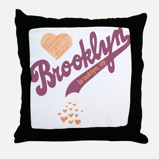 Love For Brooklyn Throw Pillow
