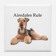 Airedales Rule Tile Coaster