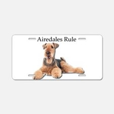 Airedales Rule Aluminum License Plate