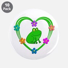 """Frog Heart 3.5"""" Button (10 pack)"""