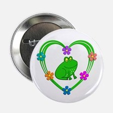 """Frog Heart 2.25"""" Button (10 pack)"""