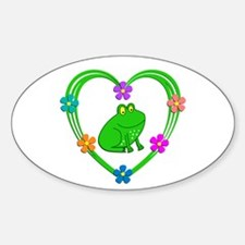 Frog Heart Decal