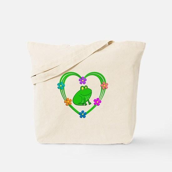 Frog Heart Tote Bag