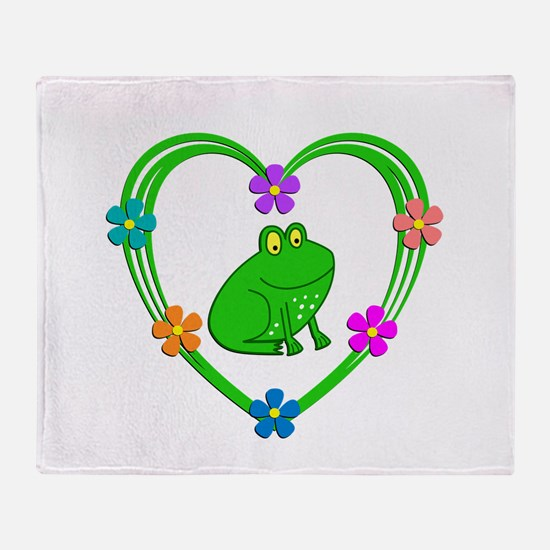 Frog Heart Throw Blanket