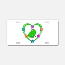Frog Heart Aluminum License Plate