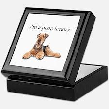 Airedale Terrier is a Poop Factory Keepsake Box
