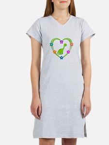 Dinosaur Heart Women's Nightshirt