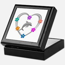 Dolphin Heart Keepsake Box
