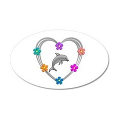 Dolphin Heart Wall Decal