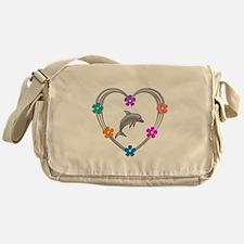Dolphin Heart Messenger Bag