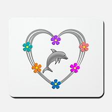 Dolphin Heart Mousepad